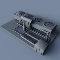 cooling unit 3d 3ds