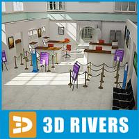 3ds bank interior