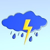 weather icon 3d model