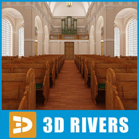 Catholic church interior by 3DRivers