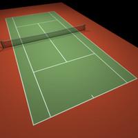 Tennis Hard Court Red