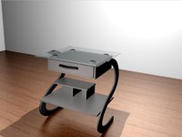 small table desk 3ds
