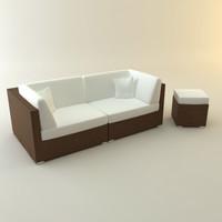 design couch lounger garden 3d model