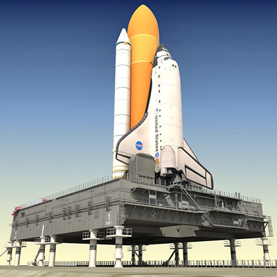 NASA Space Shuttle with MLP