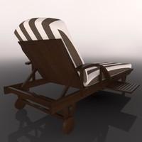 cinema4d lounger lounge chair