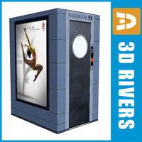 automated toilet public 3d 3ds