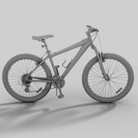 bike specialized hardrock mountain 3d model