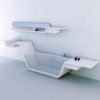 3ds minimalistic bathroom design