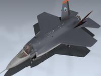 x-35b joint strike fighter 3d model