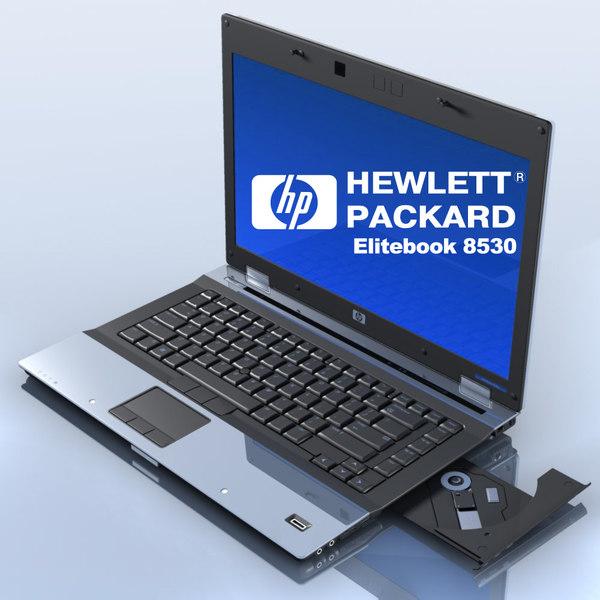 3d model notebook hp elitebook 8530p