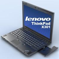 notebook lenovo thinkpad x301 3d c4d