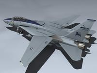 3d model f-14d super tomcat vf-213