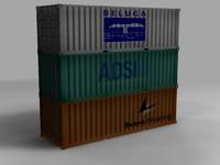 ship container 3d obj