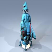 Retro Styled Rocketship