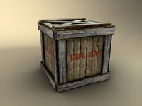 3d wooden crate