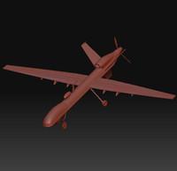 mq-9 reaper uav 3d model