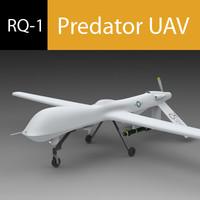 3d model predator uav