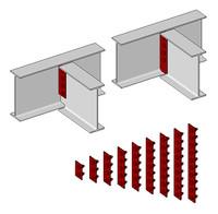 steel single plate connection 3d model