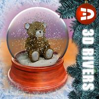 3ds max snow globe teddy bear