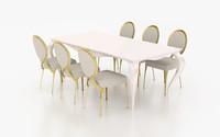 set cantori table chair 3d max