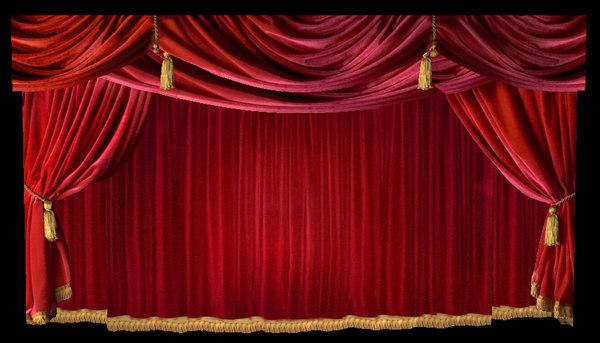 curtains ideas red velvet theater inspiring pictures - Velvet Curtain
