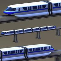 monorail train track 3d model