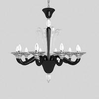 3d classi chandelier black model
