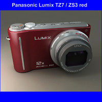 3dsmax panasonic dmc-tz7 red