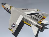 navy fighter 3d model