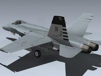navy hornet 3d model