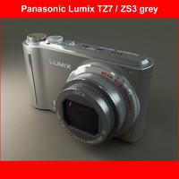 3d model panasonic dmc-tz7 grey 1