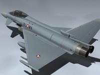 eurofighter typhoon austria 3d model
