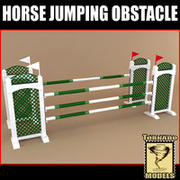3ds max horse jumping obstacle