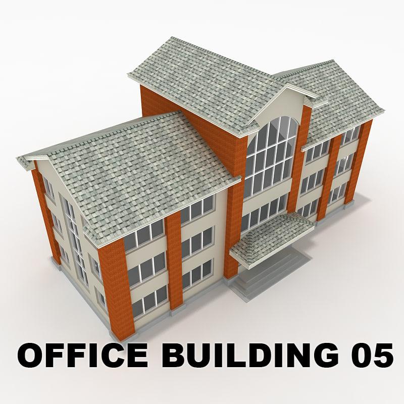 3d office building 05