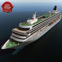 3d model of Cruise Ship Crystal Symphony