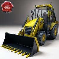 backhoe loader 3d model