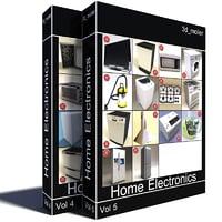 home electronics v6 3d model