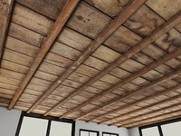 Wood Ceiling 1 - Old Wooden Ceiling - 3DS MAX 2010 - Mental Ray Material