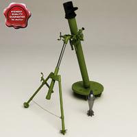 3d model mortar 2b14 podnos 82mm