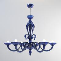 3d model zonca chandelier lamps
