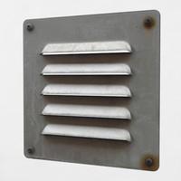 3d model vent metal