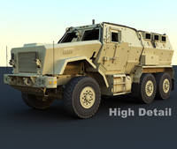 caiman military vehicle 3d max