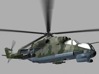 Mil Mi24 P Hind Soviet Helicopter Gunship Game Ready