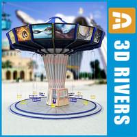 wave swinger waveswinger swings 3d model