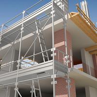 3d construction area model