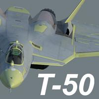 versions prototype sukhoi t-50 3d model