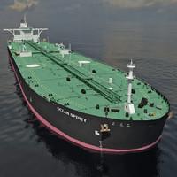 oil tanker ship 3d model