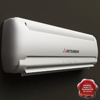 wall mounted air conditioner 3d model