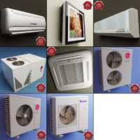 air conditioners v3 3d model