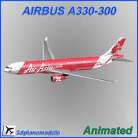 airbus a330-300 x 3d model